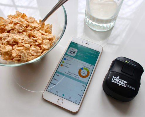 Tellspec sensor with cereal